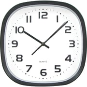 Tempus 12 Wide Profile Square Clock, Black