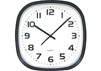 Tempus 12' Wide Profile Square Clock, Black