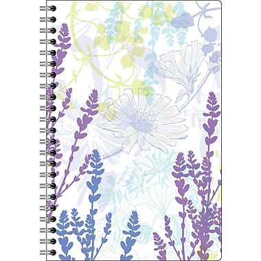 Staples® 2014/2015 Weekly/Monthly Medium Academic Planner, 5in. x 8in., Purple Floral Cover