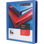 "1"" Staples® Heavy-Duty View Binder with D-Rings, Periwinkle"