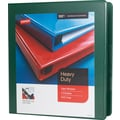 1-1/2in. Staples® Heavy-Duty View Binder with D-Rings, Green