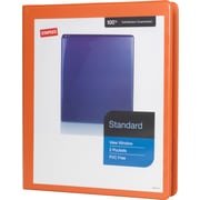 "1/2"" Staples® Standard View Binder with D-Rings, Bright Orange"