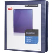 Staples Standard 1-Inch Slant D 3-Ring View Binder, Blue (24621)