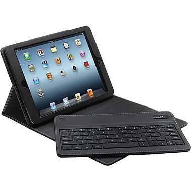 Aduro Facio Case with Bluetooth Removable Keyboard for iPad Air, Black