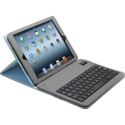 Aduro Facio Case with Bluetooth Removable Keyboard for iPad Air, Silver/Blue