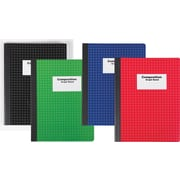 Staples® Composition Notebook, Graph Ruled, Assorted Colors, 9-3/4in. x 7-1/2in.