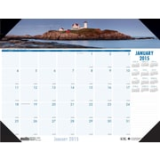 House of Doolittle™ 2015 , Monthly, January-December, Coastlines, Desk Pad Calendar, 22 x 17