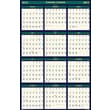 House of Doolittle™ 2015 , Monthly, July-December, Green/Yellow,  Reversible Wall Calendar, 24in. x 37in.