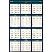 House of Doolittle™ 2015 , Monthly, July-December, Green/Yellow,  Reversible Wall Calendar, 24 x 37