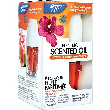 Bright Air® Electric Scented Oil Warmer Dispenser with Refill, Hawaiian Blossoms and Papaya
