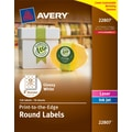 Avery® 22807 Easy Peel® Print-to-the-Edge in White Round Labels, Glossy, 2in. Diameter, 120/Box