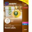 "Avery® 22807 Easy Peel® Print-to-the-Edge in White Round Labels, Glossy, 2"" Diameter, 120/Box"