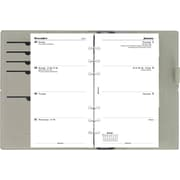 2015 Filofax Weekly Organizer - Domino, A5 Size, Black, Smooth Leather-look Cover, Paper Size:  8-1/4 x 5-3/4