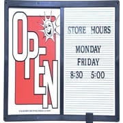 "KC Store Fixtures 12202-B 14"" x 1"" ""Open/Closed"" Message Board"
