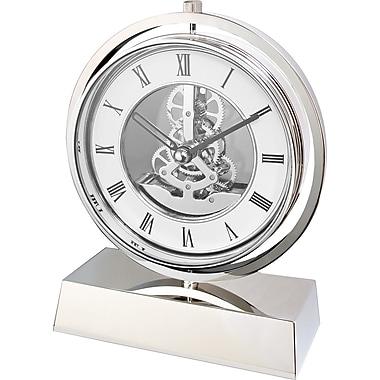 Natico 10-5288 Electro-Mechanical Gear Clock, White