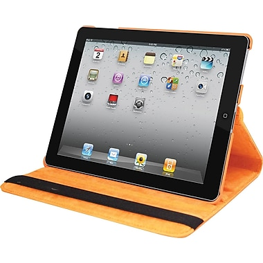 Natico 60-IM360-OR Faux Leather Folio Case for Apple iPad Mini, Orange