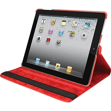 Natico 60-IM360-RD Faux Leather Folio Case for Apple iPad Mini, Red