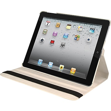 Natico Faux Leather Cover Case For iPad Mini, White