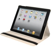 Natico 60-IM360-WH Faux Leather Folio Case for Apple iPad Mini, White