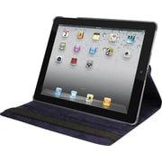 Natico 60-I360-NBL Faux Leather Folio Case for Apple iPad, Navy Blue
