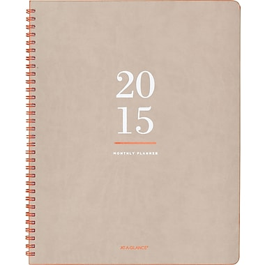 "AT-A-GLANCE® Collection: Monthly Planner, 8 3/8"" x 11"", 2015"