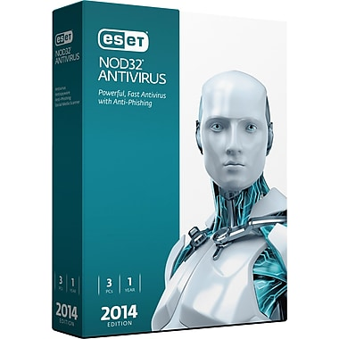 ESET NOD32 Antivirus V.7 2014 Edition (3 User) [Boxed]