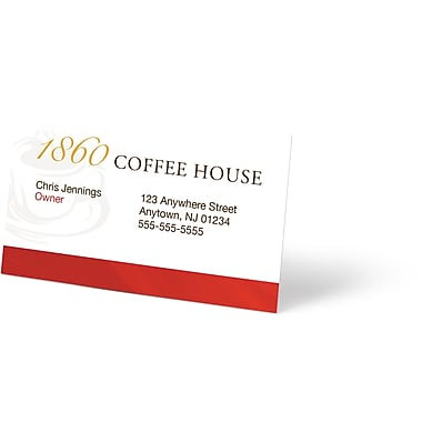 Custom business cards staplesr for Make business cards staples