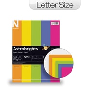 "ASTROBRIGHTS Color Paper, 8 1/2"" x 11"", 24 lb., 5-Color ""Happy"" Assortment, 500 sheets"