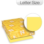 "Neenah Heavyweight Index Paper, LETTER-Size, Canary, 90 lb., 8 1/2"" x 11"""