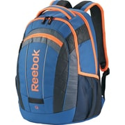 Reebok Big Gulp Laptop Backpack, 17 Laptop, Blue/Orange