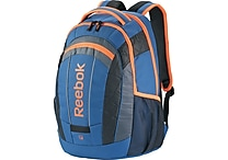 Reebok Big Gulp Laptop Backpack, 17' Laptop, Blue/Orange
