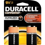 Duracell 9-Volt Alkaline Batteries, 2 Batteries/Pack