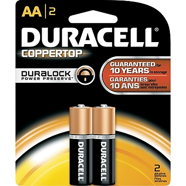 Duracell AA Alkaline Batteries, 2/Pack