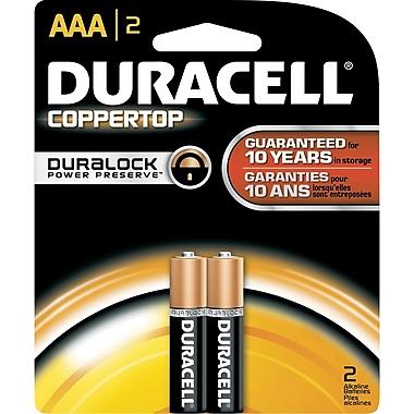 Duracell AAA Alkaline Batteries, 2/Pack