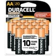 Duracell AA Coppertop Alkaline Batteries, 20/Pack