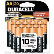 Duracell AA Coppertop Alkaline Batteries, 20/Pack