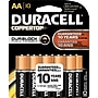 Duracell Coppertop AA Alkaline Batteries, 10/Pack