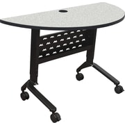Balt Nido 48'' Semi-Circle Height Adjustable Table, Grey (90284-4622-BK)