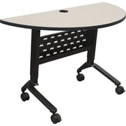 Balt Nido 48'' Semi-Circle Flip Top Training Table, Grey (90284-4877-BK)