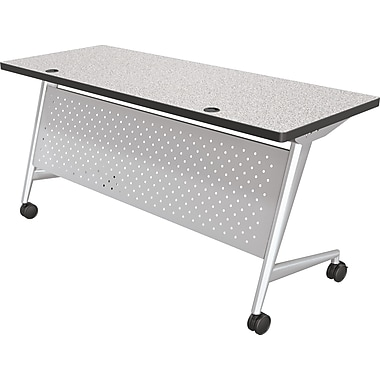 Balt Trend 60'' Rectangular Flip Top Training Table, Silver and Gray (90279-4622-PL)