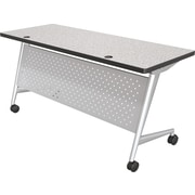 6024 Trend Flipper Table Silver Frame Gray Nebula