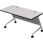 7224 Trend Flipper Table Silver Frame Gray Nebula