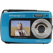 Polaroid iF045 14.1 MP Dual Screen Waterproof Digital Camera, 5X Digital Zoom, Blue