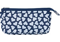 Teen Vogue Fashion Pencil Pouch, Blue Hearts
