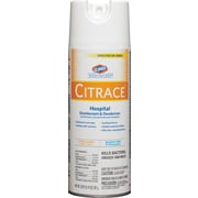 Clorox Healthcare® Citrace® Hospital Disinfectant & Deodorizer, Aerosol Spray, Citrus, 14 Oz., 12/Ct