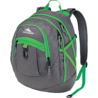 High Sierra Fat Boy Backpack, Charcoal Treads Kelly
