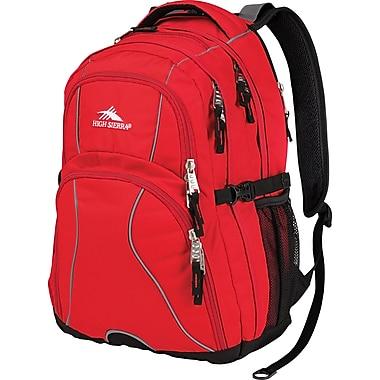 High Sierra Swerve Crimson Black Polyester Backpack (53665-0924)