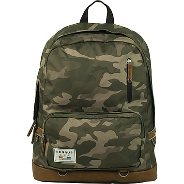 Benrus American Heritage Infantry Backpack, Green Camo
