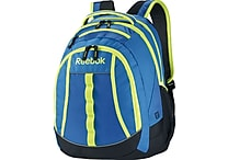 Reebok Thunderchief Backpack, 15.6' laptop/H20 Hydration System, Blue/Yellow