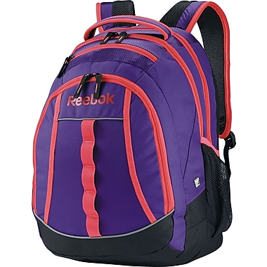 Reebok Thunderchief Backpack, 15.6in. laptop/H20 Hydration System, Purple/Pink